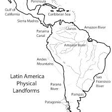 Latin America Outline Maps Coloring Map Of North America Coloring Map Coloring Page North And