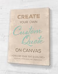 Custom Quote On Canvas