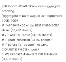 Billboard Japan Album Chart Billboard Japan Weekly Album Chart 2 Taemin