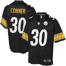 Pittsburgh Pro Nfl James Steelers Tall Black Line Jersey Big Conner Player amp; -