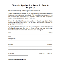 rent application form doc 10 free download rental application templates free premium
