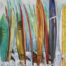 art in style x27 surfboards in a row x27 hand  on hand painted surfboard wall art with shop art in style surfboards in a row hand painted wall art free