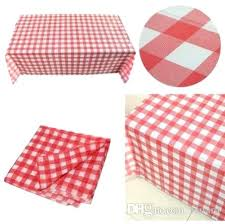 red gingham plastic disposable party tablecloth for outdoor picnic crochet vintage tablecloths from round
