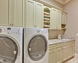 Interior:Seamless White Laundry Room Design With Fiberboard Storage Units  Also White Floor Nice Storage