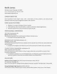 List Of Career Objectives High School Graduate Resume Example Work Experience
