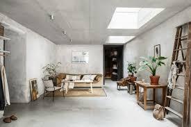 Raw Design Concrete Walls Interior Trend In A Scandinavian Home Tour