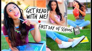 get ready with me first day of hair makeup