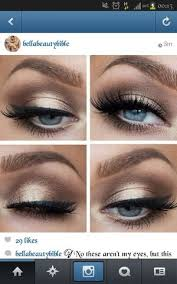 makeup ideas for cobalt blue dress with gold embellishment beautylish
