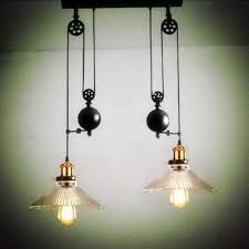 up down dining room vintage pulley lamp kitchen light rise fall glass shade chandelier industrial lighting bar e27 edison pendant lamps indoor lighting