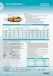 Electrical Cable Gland Size Chart Pdf Perfect Icg 653