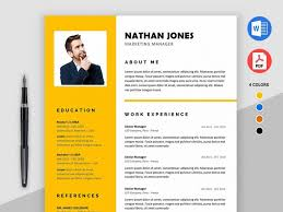 Free Microsoft Word Resume Template With Modern Design By Julian Ma
