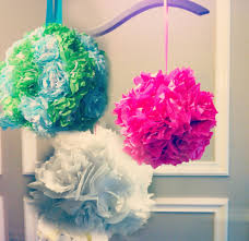 Hanging Paper Balls Decorations Tissue Paper Pomanders How to make flower balls DIY wedding 1