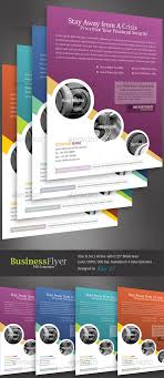 Advertising Flyers Template Templates Business Flyer With 4 Color