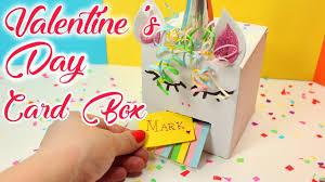 valentine s day card box easy diy unicorn box valentine s day craft