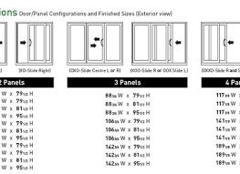 standard patio door rough opening sliding patio doors