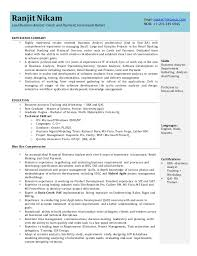 sample resume for business analyst business analyst resume for financial and banking domain sample