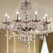 modern crystal chandelier lighting luxury cognac glass chandeliers lamp hanging light res de cristal lamp hotel lighting copper chandelier branch