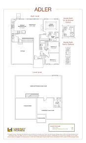 Adler Floor Plan  Legacy Homes  Omaha And LincolnHearthstone Homes Floor Plans