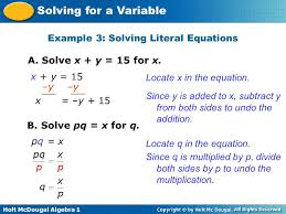 example 3 solving literal equations