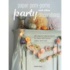 Pom Pom Decorations Paper Pom Poms Other Party Decorations By Juliet Carr Makeetccom