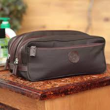 fair trade men s travel toiletry bag from peru andean brown