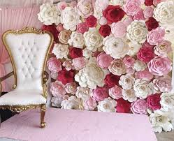 Flower Wall Paper Paperflora Paper Flower Walls Backdrops And Home Decor