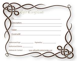 Plain Gift Certificate Template Rome Fontanacountryinn Com