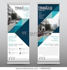 Blue Roll Business Brochure Flyer Banner Stock Vector Royalty Free