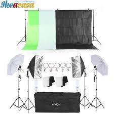 andoer photography lighting equipment kit soft light umbrella softbox bulb holder light bulbs socket backdrops photo
