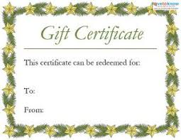 Printable Christmas Certificates Printable Christmas Gift Certificates LoveToKnow 29