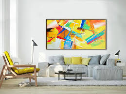 palette knife painting original horizontal wall art abstract art canvas painting large art on large horizontal canvas wall art with palette knife painting original horizontal wall art abstract art
