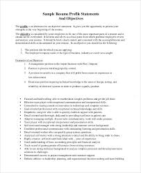 General Resume Samples Sample Objective Statement Resume 8 Examples In Pdf