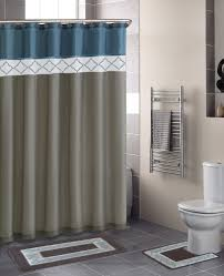 home dynamix designer bath shower curtain and bath rug set db15d 329 diamond blue beige designer bath collection shower curtain mat set shower