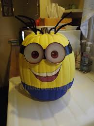 Painted Minion Pumpkins All Things Bath And Body Works Craft Making My Own Minion Pumpkin