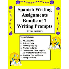 writing prompts bundle of writing assignments spanish writing prompts bundle of 7 writing assignments