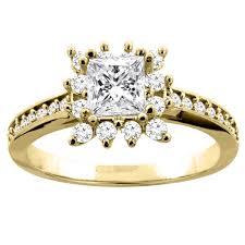 14k yellow gold 1 03 ct princess cut
