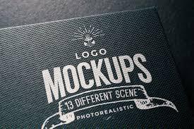 Logo Mock Up Simple Free Logo Mockup Psd