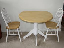 Kitchen Tables And More  Craftman Dinette Decor With Small Round Small Kitchen Table And Chairs