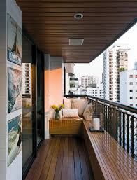 Modern Apartment Design With Wooden Balcony Located In Brazil