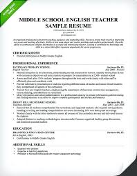 Nursery School Teacher Resume Sample Teacher Resume Sample Middle
