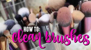 quick tip fastest way to clean makeup brushes