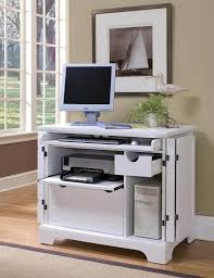 small white corner desk with single drawer for laptop computer intended for small folding computer desk
