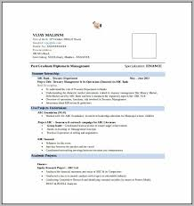 Resume Format Free Download For Mba Fresher Resume Resume