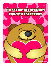 valentines days cards bear hugging a heart valentines day cards printably