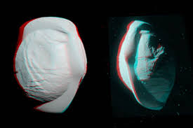Pan <b>Anaglyph</b> (3-D) | Saturns moons, Nasa solar system, Space probe