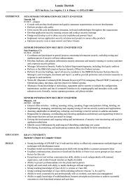 Information Security Engineer Sample Resume Senior Information Security Engineer Resume Samples Velvet Jobs 11