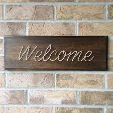 string art welcome sign rustic farm