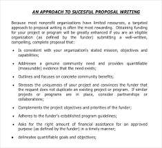 Non Profit Project Proposal Template 11 Grant Writing Templates Free