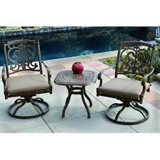 darlee santa barbara 3 piece cast aluminum patio bistro set