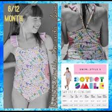 Dot Dot Smile Size Chart 6 12 Month Dds Limited Edition Swimwear